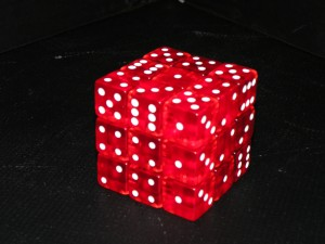 Karin Plastic Dice Rubic's Cube with Magnets